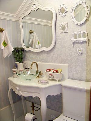 decoração provençal lavabo