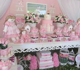 festa rosa e branco