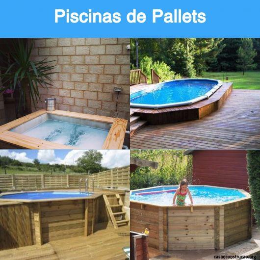 35 piscinas de pallets incr veis como fazer gastando pouco for Ver modelos de piscinas