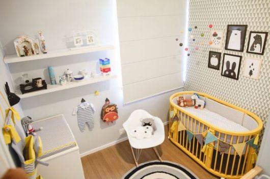 decoração moderna quarto de bebê