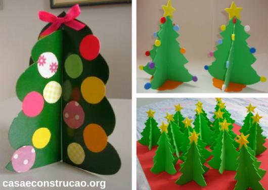 árvores de EVA de Natal com três lados