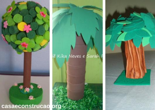 árvores de EVA com diferentes folhagens