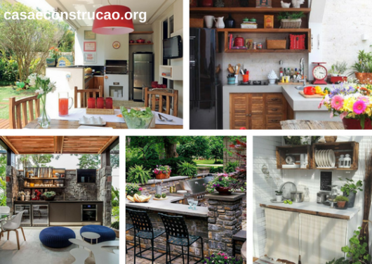 projetos de cozinha externa