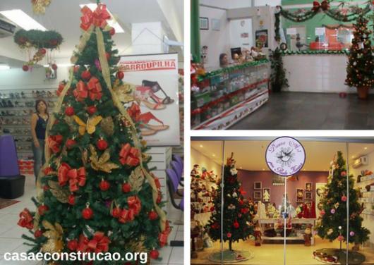 decoração de Natal para lojas com árvores de Natal