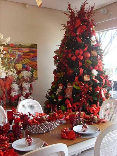 decoração de Natal em loja de móveis