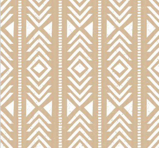 Papel de parede geométrico com estampa semelhante ao étnico.