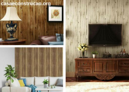 papeis de parede de madeira com vigas na vertical