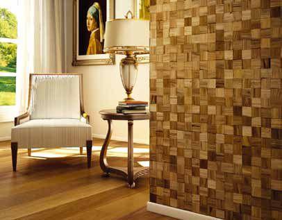 papel de parede de madeira em formato quadrado