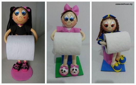 ideias de porta papel higiênico