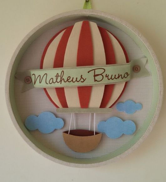 enfeite de porta de maternidade balão EVA