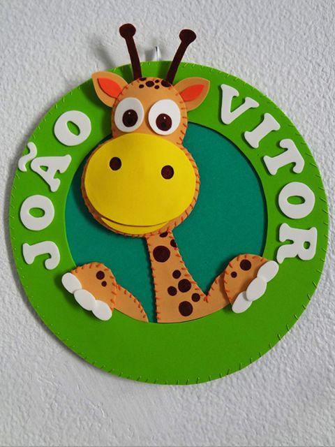 enfeite de porta de maternidade girafa