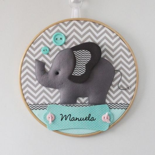 enfeite de porta de maternidade elefante