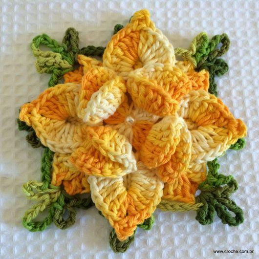 flor amarela degradê