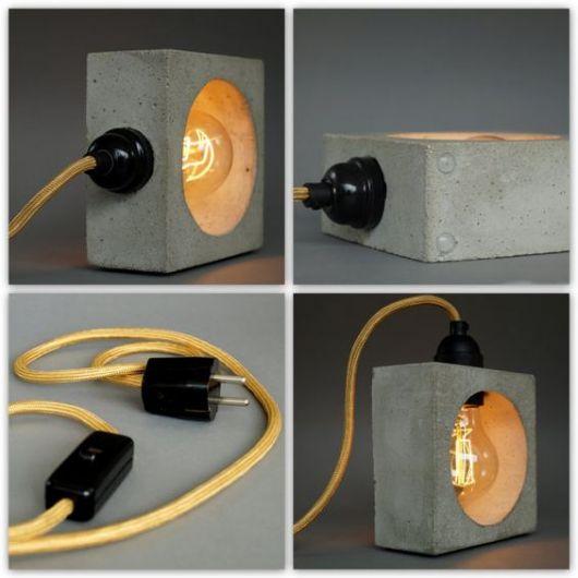 luminária de concreto