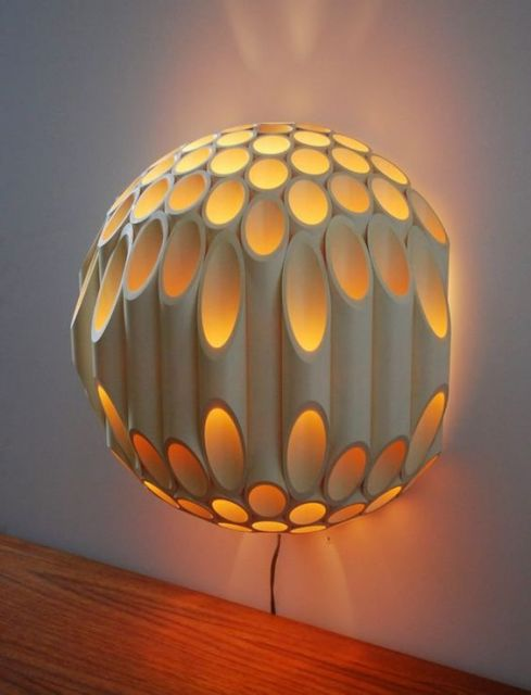 luminária de bambu sofisticada