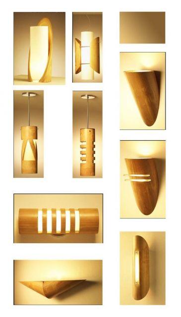 ideias de luminarias com bambu