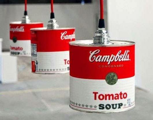luminária para cozinha de sopa campbells