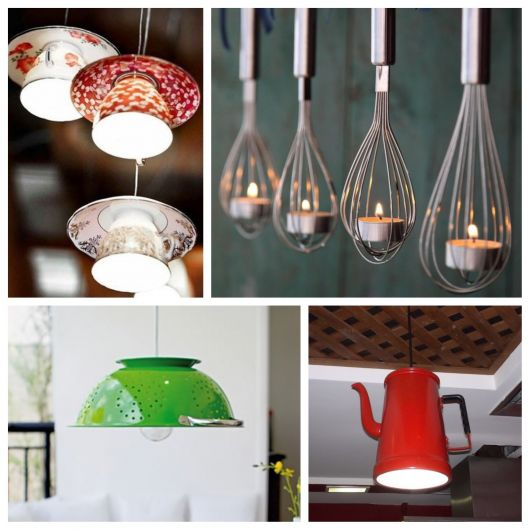várias dicas de luminárias para cozinha