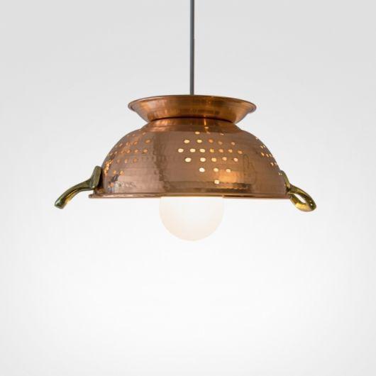 luminária para cozinha de escorredor