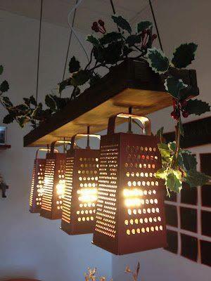 luminária para cozinha de ralador