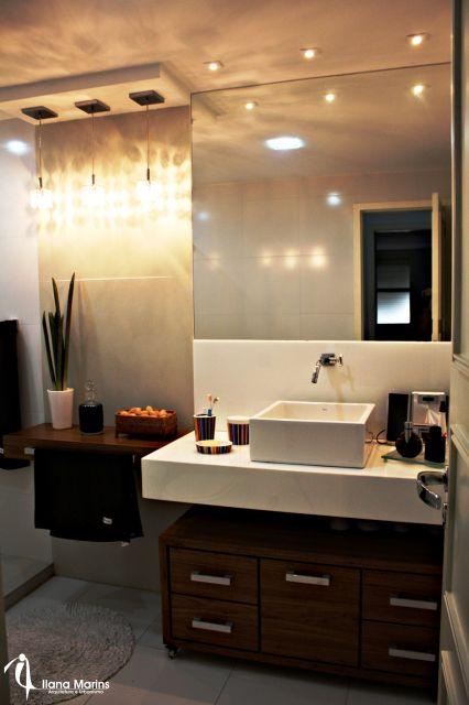 móvel madeira banheiro