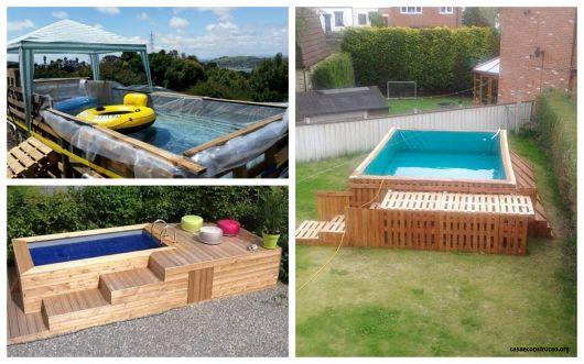 35 piscinas de pallets incr veis como fazer gastando pouco for Piscinas rigidas baratas