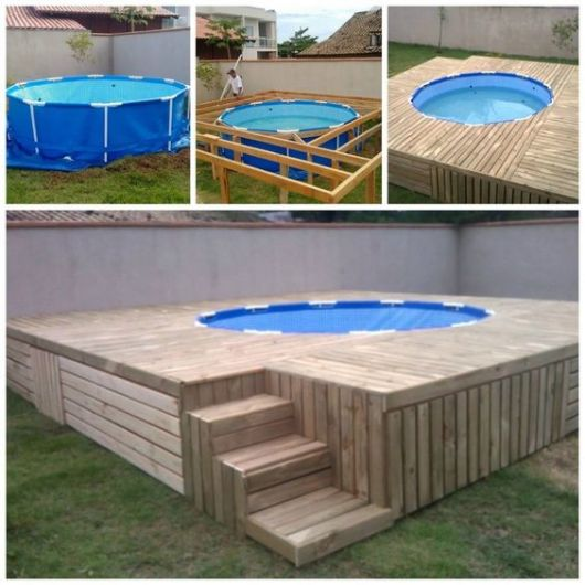 35 piscinas de pallets incr veis como fazer gastando pouco for Ideas para piscinas intex