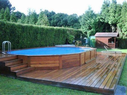 35 piscinas de pallets incr veis como fazer gastando pouco for Jardines con piscinas desmontables