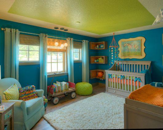 dicas de quarto de bebê verde
