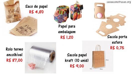 onde comprar embalagens e preços