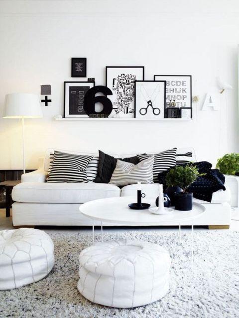 decoração branco e preto