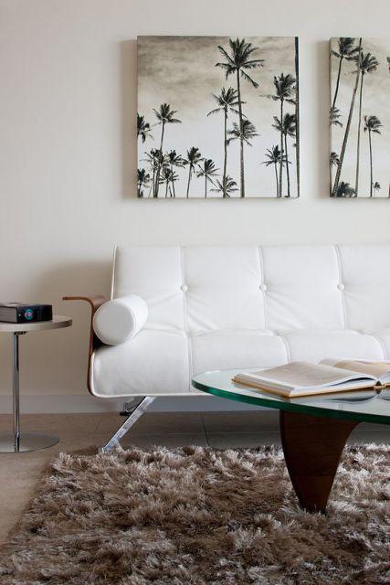 sofá moderno de couro