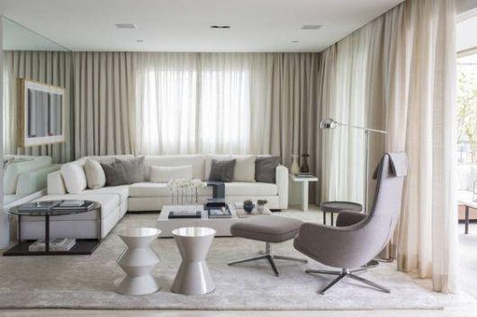 sofá de canto decoração