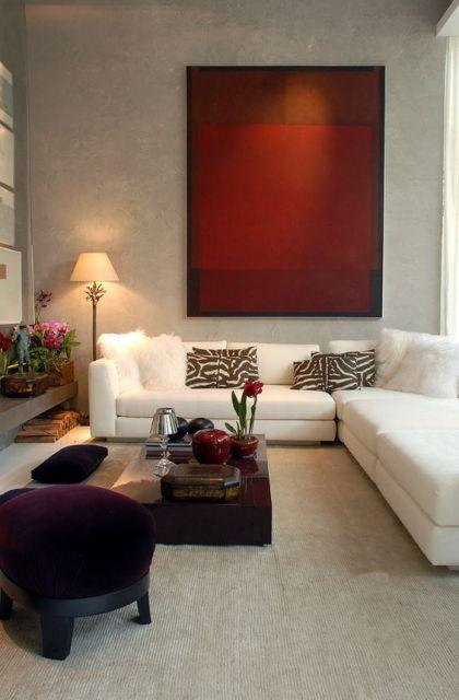 sofá de canto sala