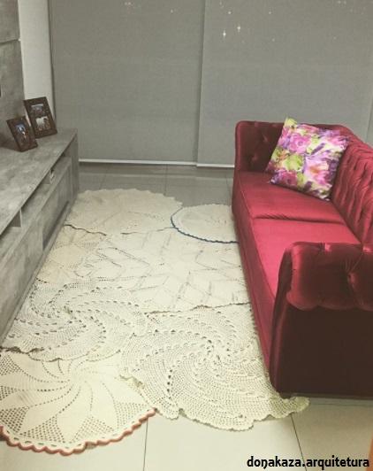 sobreposição de tapetes
