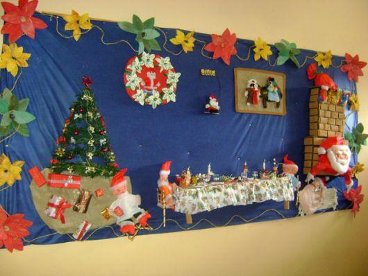 decoração de Natal para escola em mural