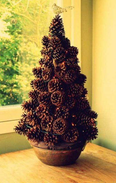 Árvore de Natal em vaso.
