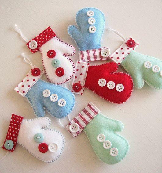 enfeites de feltro para arvores de natal