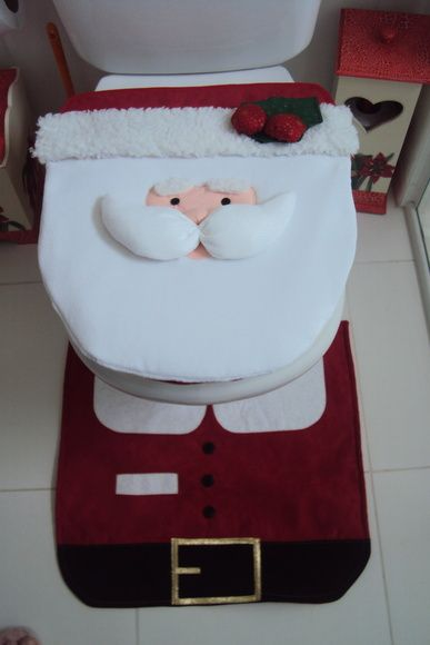 enfeite de natal para banheiro em feltro