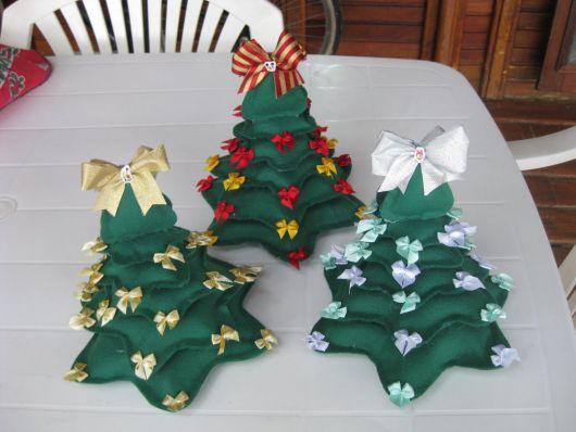 enfeite de mesa para o natal de árvore
