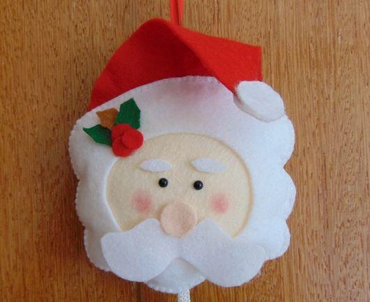 enfeite de porta em feltro para o natal bonitinho