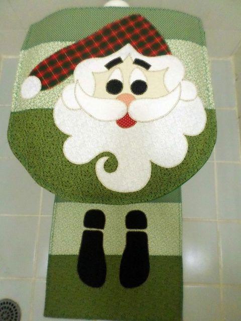 enfeite de natal para banheiro em feltro verde