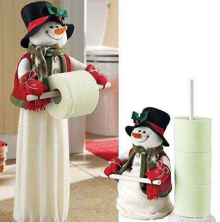 enfeite de natal para banheiro em feltro papel higiênico