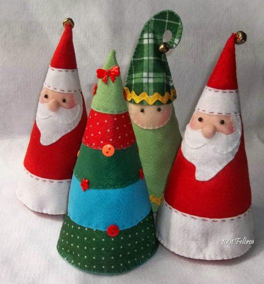 bonecos de natal em feltro