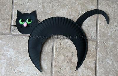 fantoches de EVA gato preto