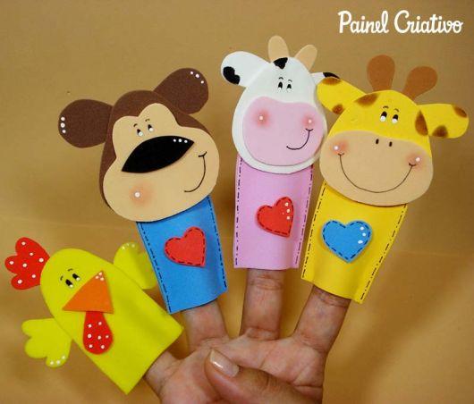 fantoches de EVA de dedo