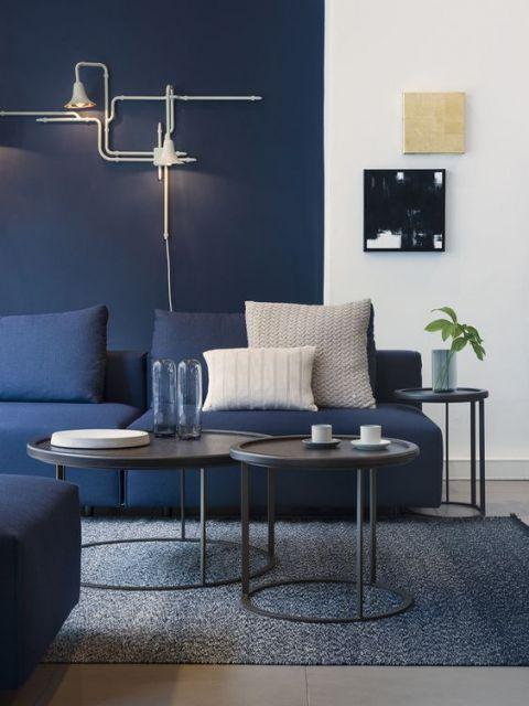 Suficiente 45 Salas com Sofá Azul - Os Modelos mais Lindos & Como Combinar! ZP68