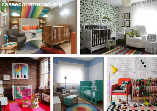 tapetes modernos em quartos infantis