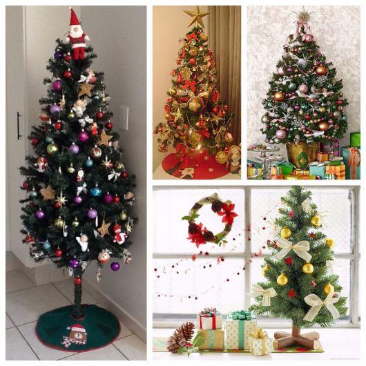 árvores de natal pequeninas