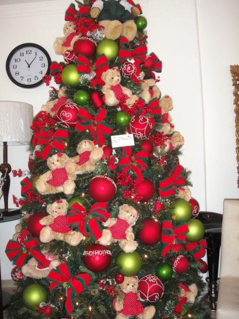 árvore de natal com ursinhos